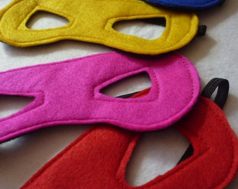 Reversible Superhero eye mask for children available in many colours.