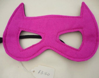 Cat/Batgirl reversible mask, great for costume parties or fancy dress, role play, being cute or a superhero. Great gift for birthday girl.