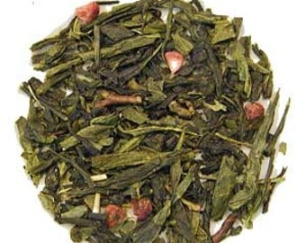 Raspberry Green Tea Private Label Foil Resealable Pouch 1 oz.