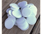 25 white felt circles 1.45 inch diameter for making baby headbands brooches clips finishing