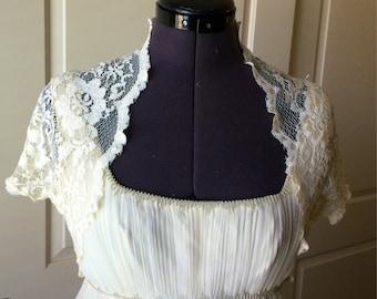 Lace Bridal/prom/evening  Shrug/bolero/jacket from stretch lace Style 204