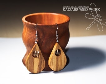 wooden earrings, wooden jewelry, wooden earrings, gift for her, olive wood earrings, olive earrings, olive jewelry,