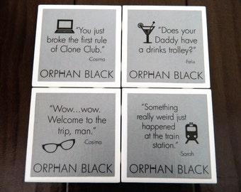 Orphan Black coasters -16 designs