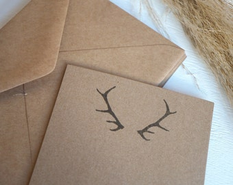 Bulk Set 50 x Thank you Note cards - Antler Affair - Note cards, wedding, engagement, shower thank you
