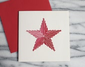 Embroidered star Greeting Card