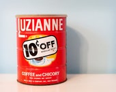 Vintage 1964 Luzianne Coffee and Chicory Tin Can