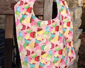 Water Resistant PUL TODDLER Bib: Cupcakes and Polka Dots