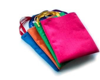 Eco Friendly Felt Tote Bag - Reusable Cloth Bag - Toy Storage - Child's Tote - Reusable Gift Bag