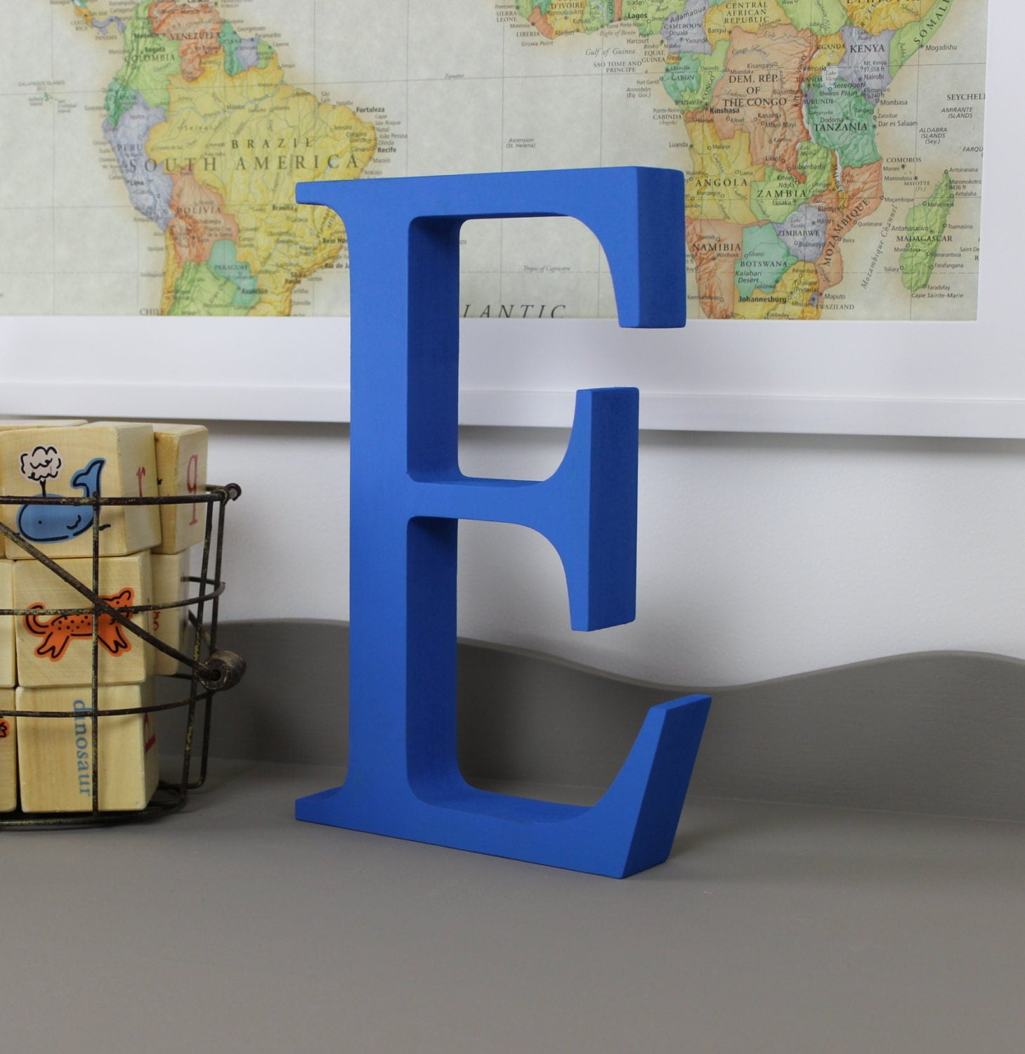 Wood Letter E Free Standing Wooden Letters Alphabet Decor