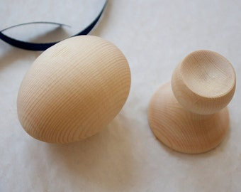 Wooden Egg with stand. Natural wood egg. Handmade eco friendly wooden toys.