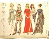 """RESERVED for Caroline: 1960's UNCUT Vintage Pattern for Dress, Tunic and Pants - Bust 34"""""""