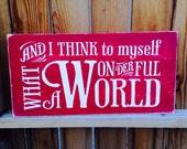12x24 What a Wonderful World
