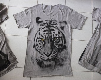 Tiger Animal Lion T-shirt XL, made to order