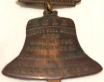 Early 1900's Liberty Bell Shaped Award