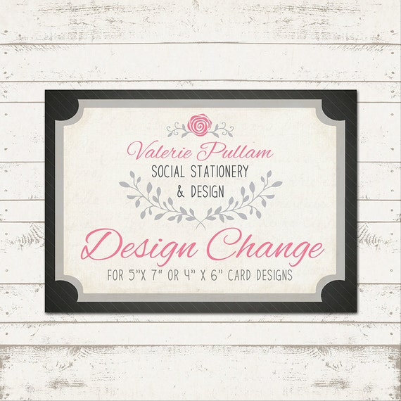 Custom Card - Design Change- Font, Color, Pattern - Special Add-on