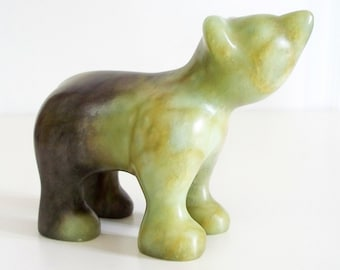Hand-carved Soapstone Sculpture - Bear Cub