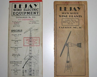 Vintage Windmill Catalogues: Original Lejay Wind Electric Equipment, 1930s