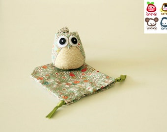 Nature - Owl Doll with a Bag: owl plush, owl decor, flower, little, mini, kid, flower, colorful, green, leaf, owl decoration, kawaii, iammie
