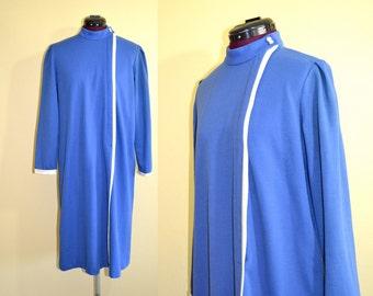 1970s Vintage Plus Size American Lady Inc Day Dress size 14 (L XL) bust 41