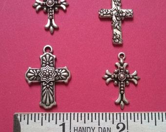 4 cross mix TierraCast antique silver (CS6-122)