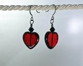 Hearts of Glass Valentine Earrings