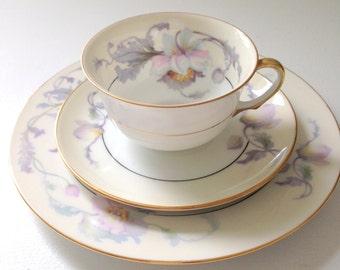 Vintage Epiag Czechoslovakia Springer & Co. Fine Bone China Tea Cup and Saucer Trio Tea Party Inspiration