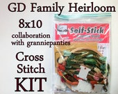 Cross Stitch KIT -- This is a GD Family Heirloom 8x10, original granniepanties' pattern with all necessary materials