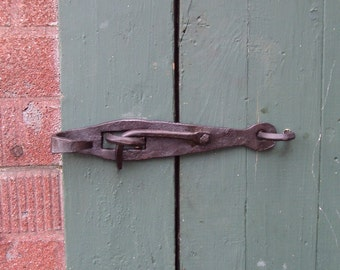 Hand Forged Gate or Door Latch based on antique pattern! Wrought Iron style for an antique/vintage look!