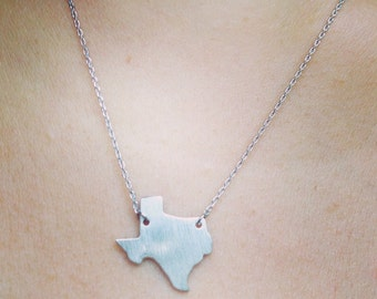Gold or Silver Plated Texas Necklace