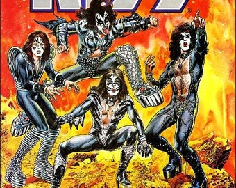 KISS / Marvel Comic Book Stand-Up Display