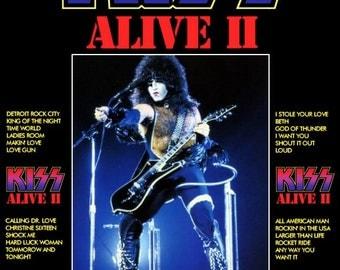 KISS Paul Stanley ALIVE II Album Promo Stand-Up Display - Alt Version