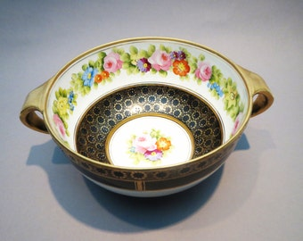 Nippon Large Hand Painted Bowl Early Noritake Morimura Brothers & Free US Shipping