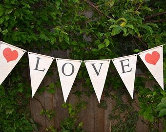 LOVE Wedding/Valentines Banner - Printable INSTANT DOWNLOAD