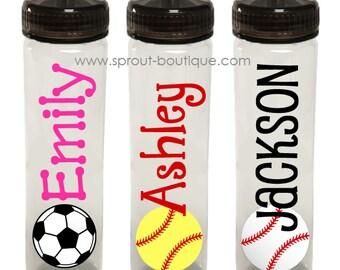 Personalized Sports Water Bottle (soccer, softball, baseball)