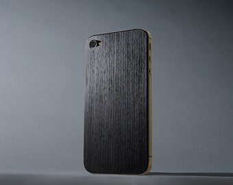 Reconstituted Ebony iPhone 4/4s Real Wood Skin - Made in the USA - FREE Shipping