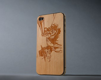 Wild West iPhone 4/4s Real Cherry Wood Skin - Made in the USA - FREE Shipping