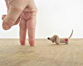 Mr. Weenie Dachshund Weenie Dog Needle Felted Doxie Soft Sculpture Sausage Dog
