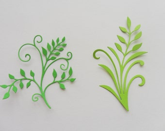 Paper Branch Leaves Die Cuts in Your Chosen Color and Quantity
