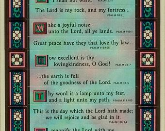 Scripture stickers, vintage Hallmark, 1980's