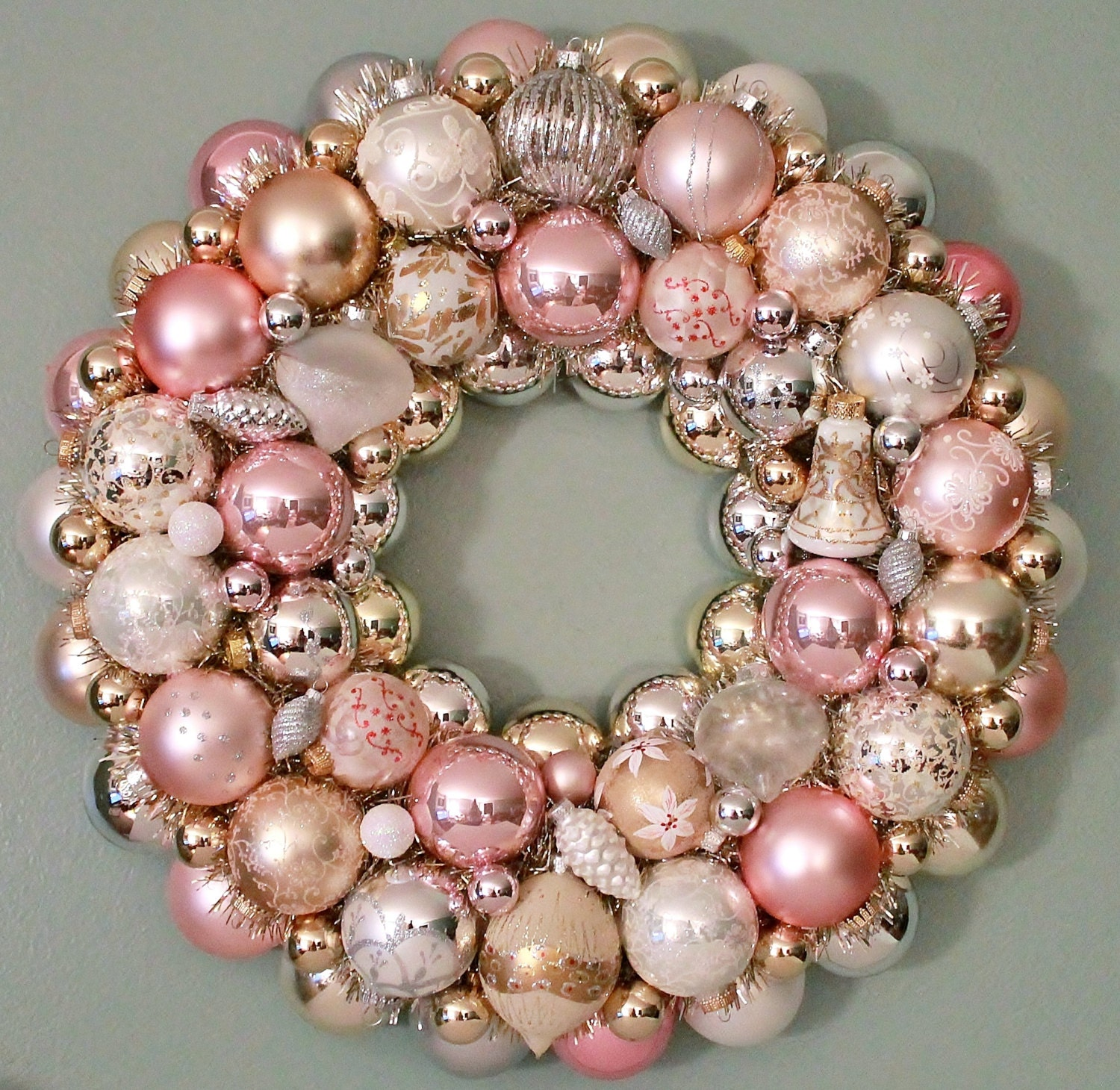 Pale Pink Christmas Ornaments