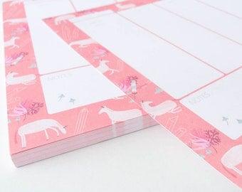 Weekly Planner - Unicorns - Notepad Weekly Planner
