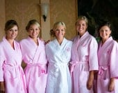 COTTON BRIDESMAID ROBES - Bridal Robes - Getting Ready Robes - Personalized Robe - Bridal Party Robes - Wedding Favors - Bridesmaids Robe