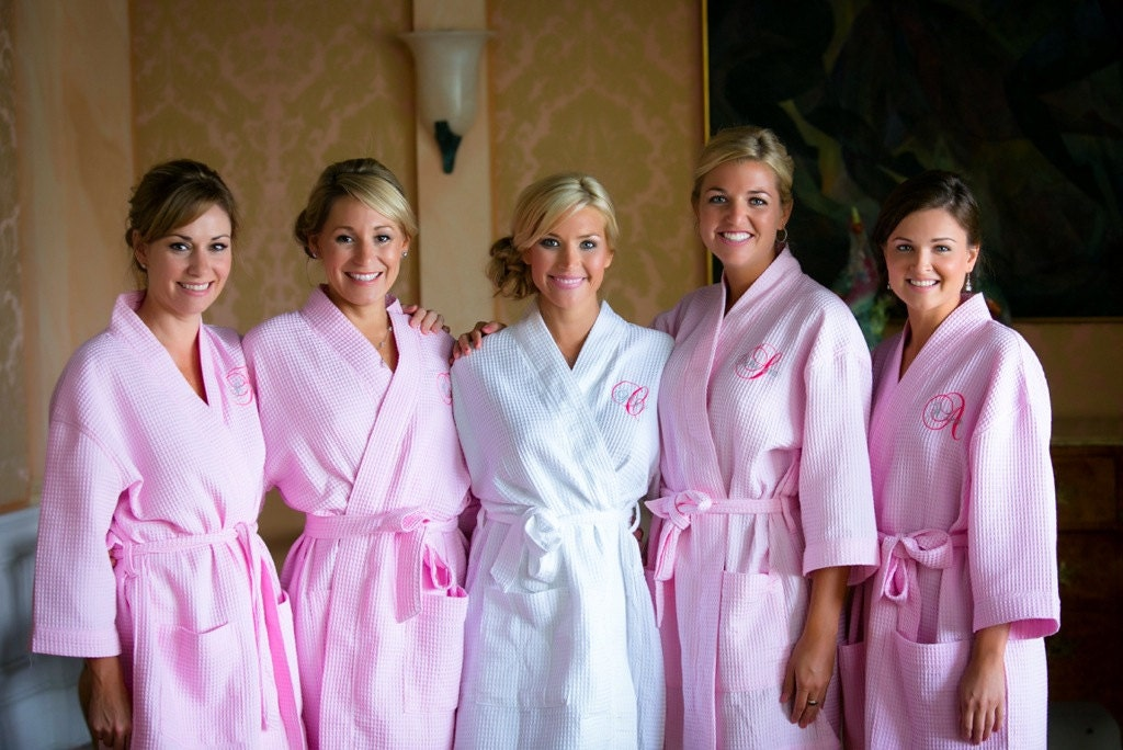cotton bridesmaid robes bridal robes getting ready robes
