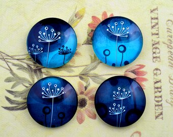 4pcs 25mm Handmade Glass Cabochon