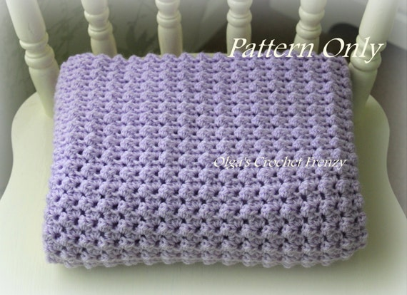 Crochet Baby Blanket Pattern, Baby Afghan, Easy to Make, For Baby Girls and Baby Boys, Instant PDF Download
