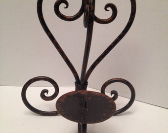 Candle holder. Hunky metal