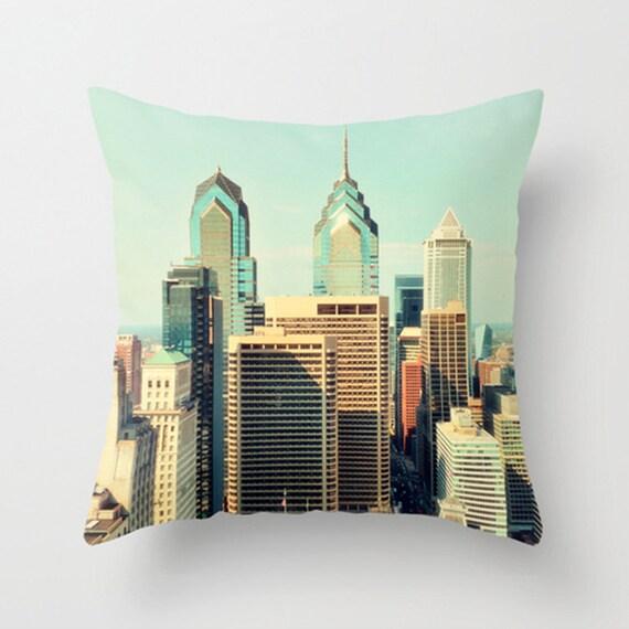 Philadelphia Skyline Philly Skyscrapers Accent Pillow