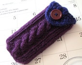 iPod iPhone 4 cozy Nexus 5 Xperia Z Smartphone HTC Droid Incredible Pax 2 Blackberry Android phone case knit in Dark Purple and Navy Blue