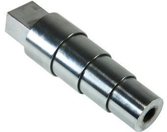 Stepped Round Steel Bracelet Mandrel With Tang 49mm to 65mm In Diameter