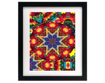 8.5 x 11 Fractal Abstract Art Print — Starving Artist Sale — Free Shipping